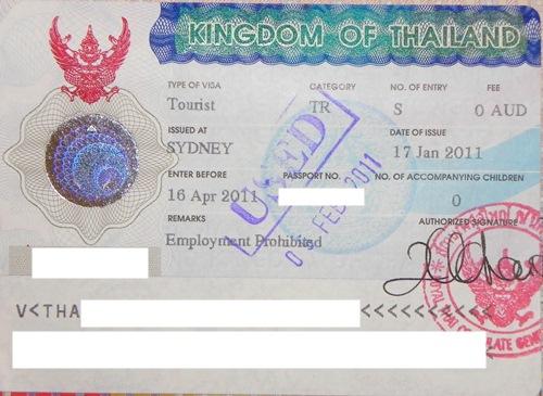 Thailand 60 Tages-Visum