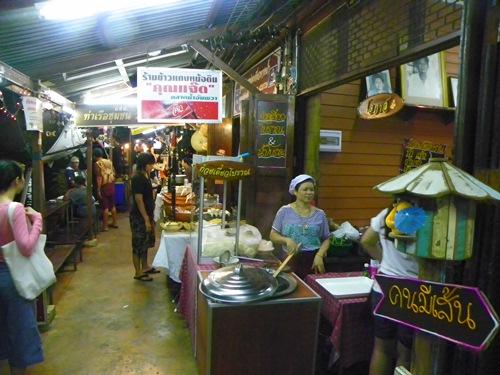 schwimmende Märkte nahe Bangkok Thailand amphawa 100 0122