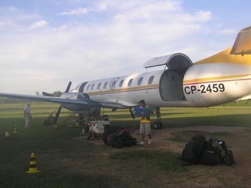 bolivias amazon tour nick airplane