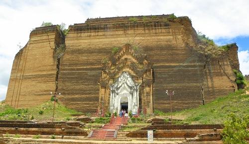 Myanmar Sehenswürdigkeiten - mingun Pagode