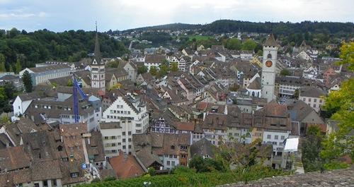 Sehenswürdigkeiten in Schaffhausen - schaffhausen-view-from-munot